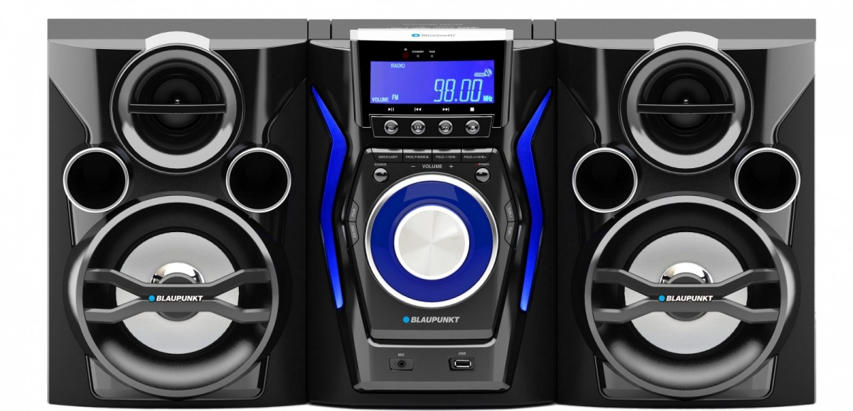 Blaupunkt MC60BT, CD / MP3 / USB, Bluetooth, Karaoke mūzikas centrs