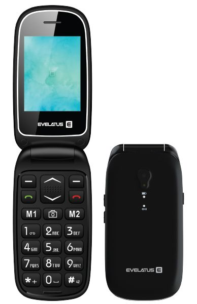 Evelatus  Wave DS Black WAVEBLK Mobilais Telefons
