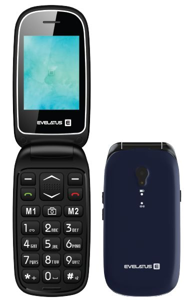 Evelatus Wave Dual Sim Blue (LAT, RUS, ENG) Mobilais Telefons