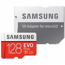 Samsung microSD Card Evo Plus 128 GB, MicroSDXC, Flash memory class 10, SD adapter atmiņas karte