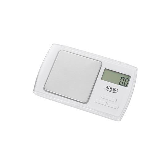 Adler AD3161 Svari Precizitātes skala 0.1 grams (max 500gr) virtuves svari