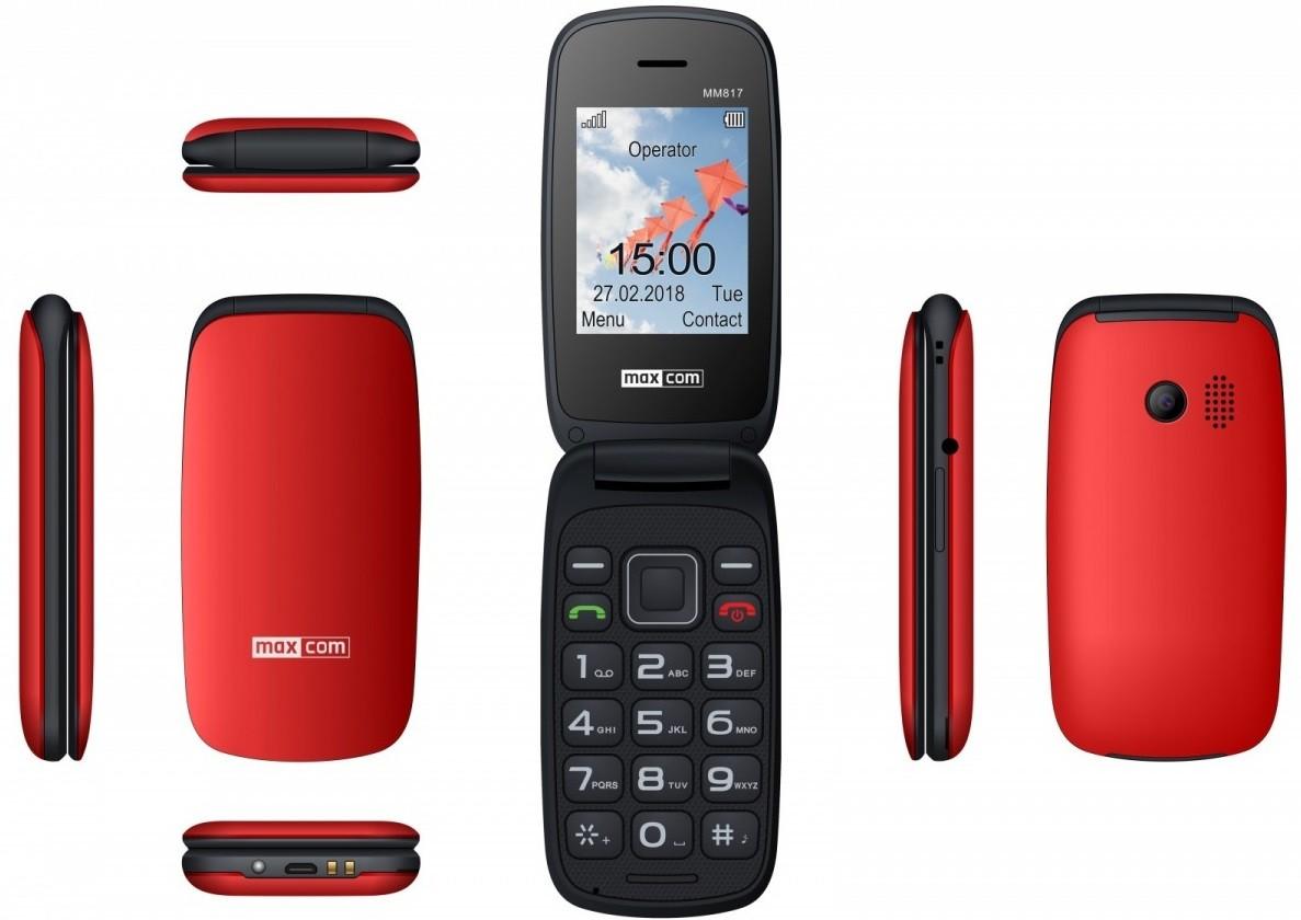 MAXCOM Mobile phone MM 817 red Mobilais Telefons