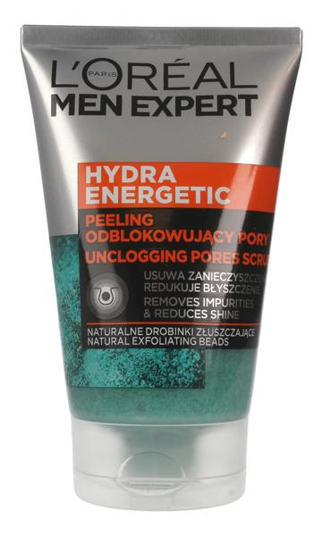 L'OREAL_Men Expert Hydra Energetic Peeling unblocking the pores 100ml kosmētika ķermenim