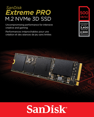 SanDisk SSD Extreme PRO M2 500GB SDSSDXPM2-500G-G25 SSD disks