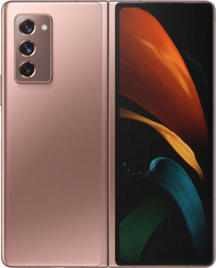 Smartfon Samsung Galaxy Z Fold2 5G 256 GB Dual SIM Brazowy  (SM-F916BZNAXEO) SM-F916BZNAXEO Mobilais Telefons