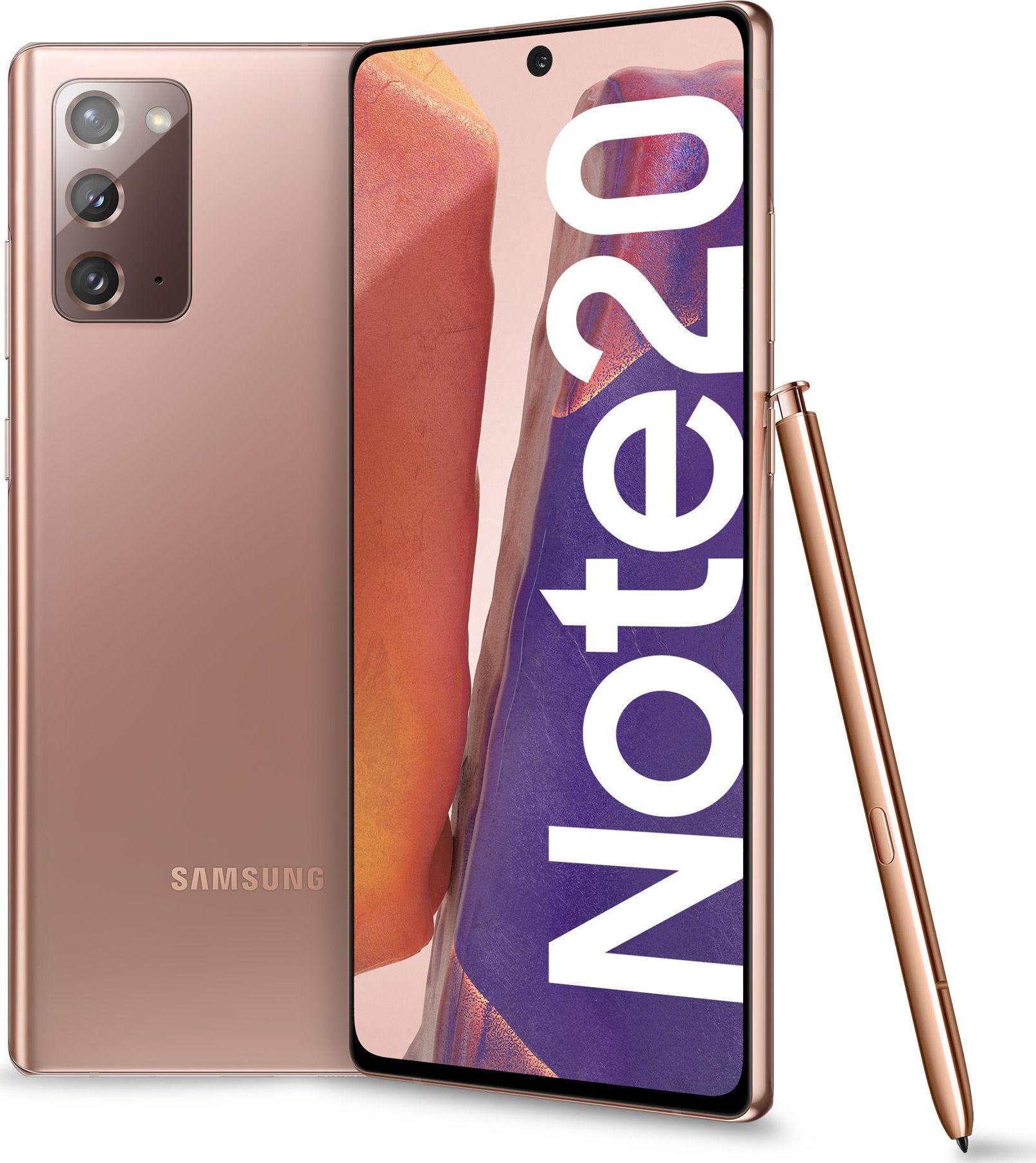 Smartfon Samsung Galaxy Note20 256GB Dual SIM Brazowy 2_312675 Mobilais Telefons