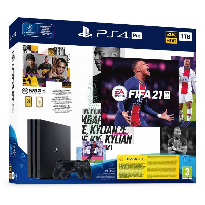 Sony Playstation 4 1TB Pro FIFA 21 + 2nd controller spēļu konsole
