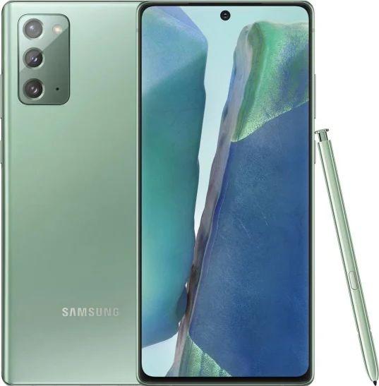 Smartfon Samsung Galaxy Note20 5G 256 GB Dual SIM Zielony  (SM-N981BZGGEUB) SM-N981BZGGEUB Mobilais Telefons