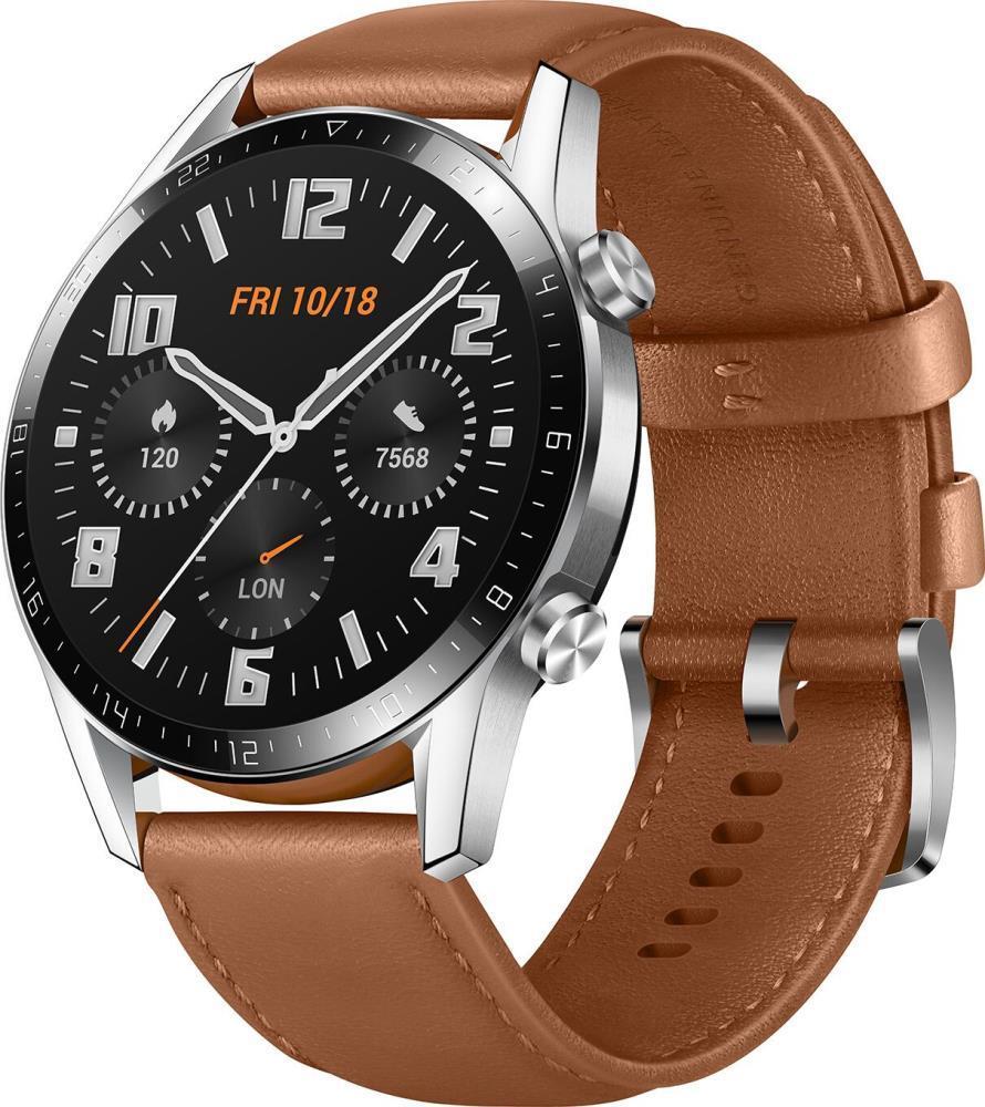 Huawei Watch GT 2 46mm, brūna āda 6901443329946 Viedais pulkstenis, smartwatch