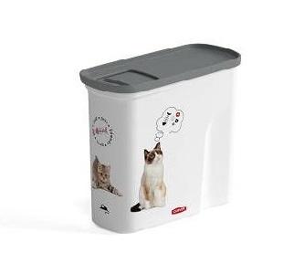 Curver Trauks baribas uzglabasanai Love Pets Dogs 1kg 2L 21x9xH19cm kakis 0804346L30 aksesuārs suņiem