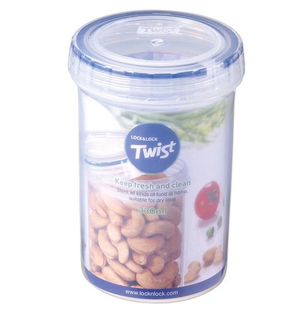 LOCK & LOCK Pārtikas trauks Twist 330ml / skrūvējams Pārtikas uzglabāšanas piederumi