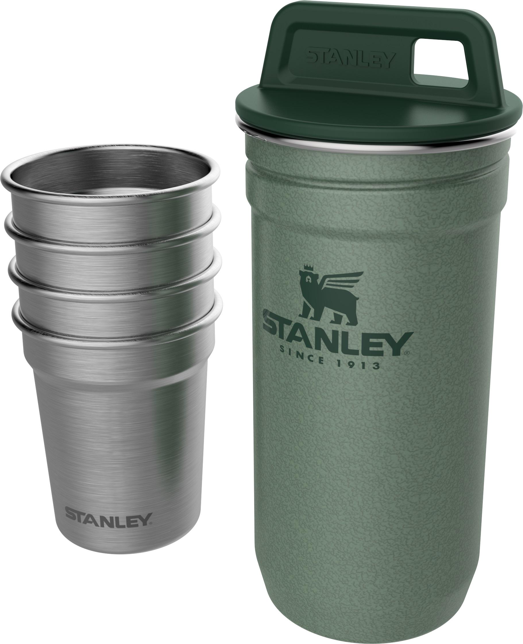 Stanley degvīna glāzīšu komplekts Adventure, 4 glāzītes 59mL ar glabāšanas ietvaru zaļš 2801705039