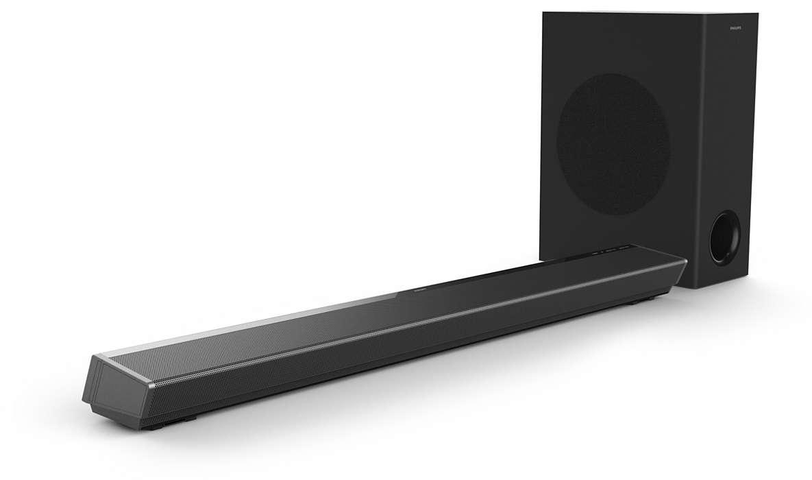 Philips Soundbar speaker TAPB603/10 3.1 CH wireless subwoofer, Dolby Atmos®, 2 HDMI In & HDMI out ARC, 320W akustiskā sistēma