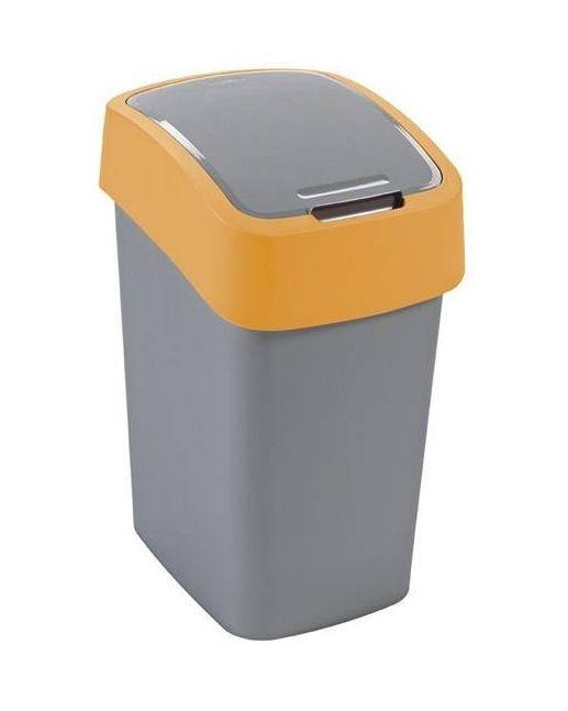 Curver Atkritumu spainis Flip Bin 50L sudraba/dzeltens 0802172535 atkritumu tvertne