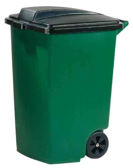 Curver Atkritumu tvertne uz riteniem 100L zala/melna 0805183532 atkritumu tvertne