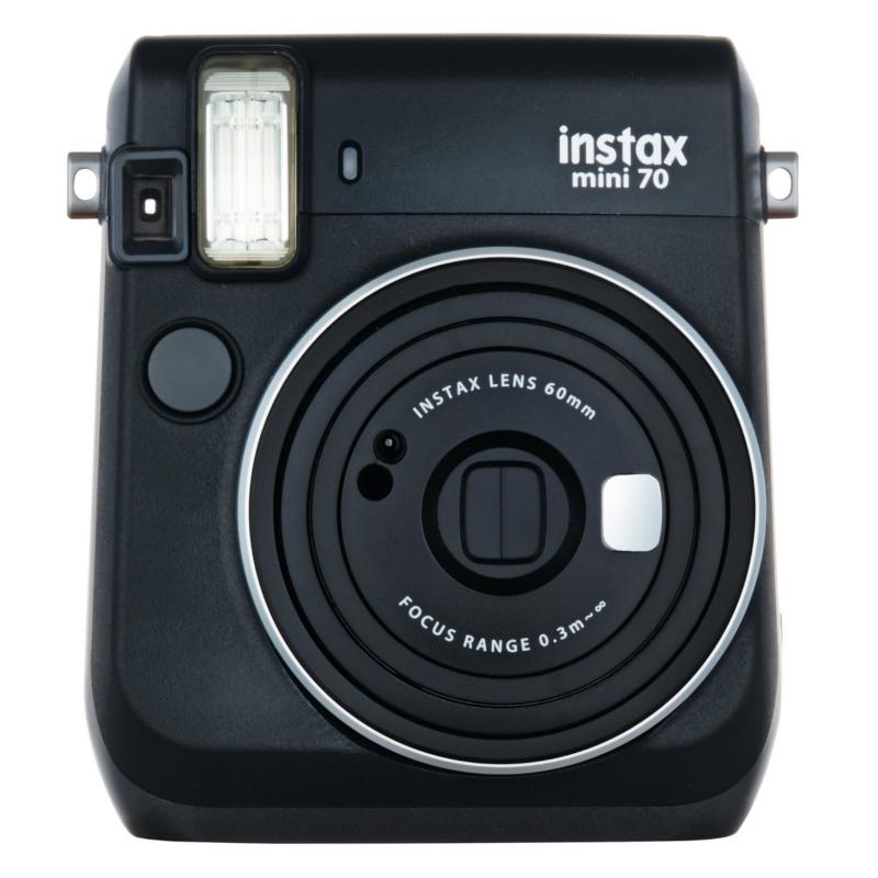 Fujifilm instax mini 70 Black + Instax mini glossy (10) Digitālā kamera