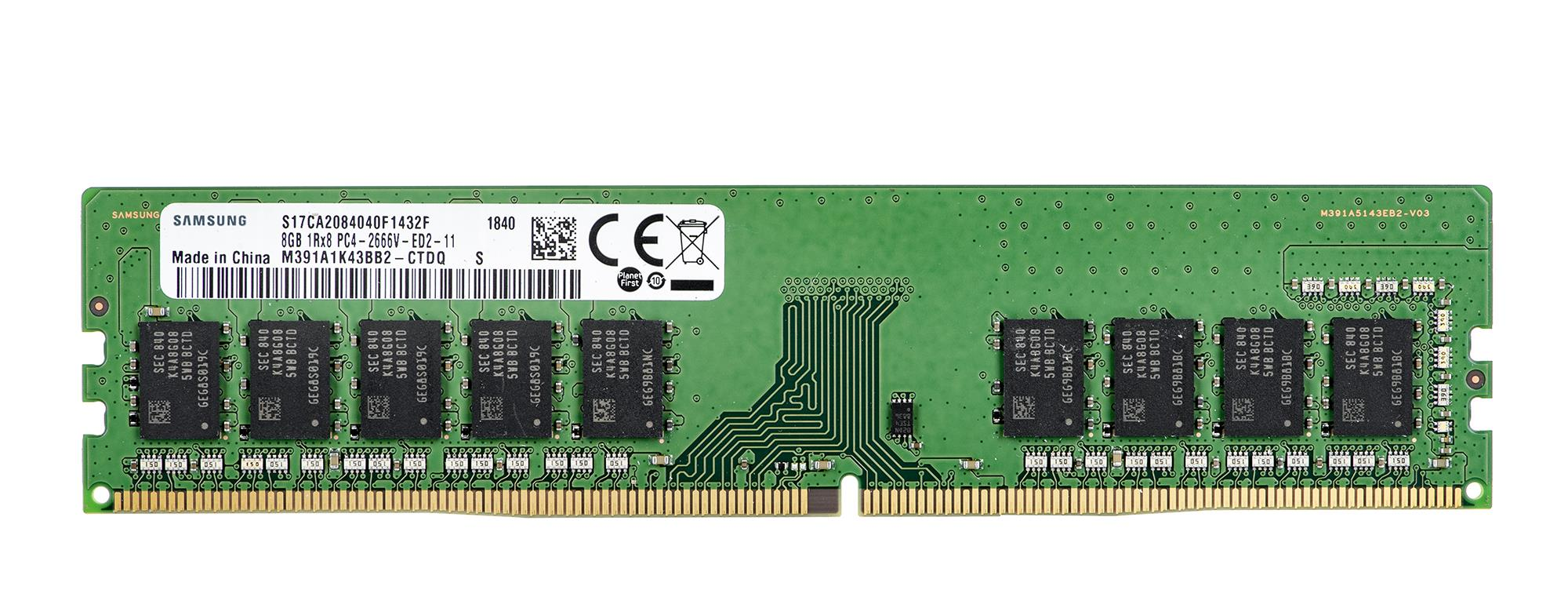 SAMSUNG 8GB DDR4-2666 UDIMM ECC Unbuffered CL17