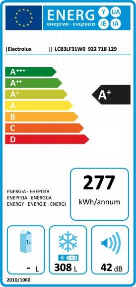 Electrolux saldētava (horizontāla), 308l LCB3LF31WO Horizontālā saldētava