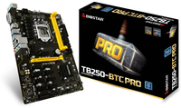 Biostar TB250-BTC PRO, Intel B250, Socket 1151, DDR4-2400/ 2133 pamatplate, mātesplate