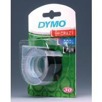 Dymo S0847730 White On Black Embossing (x3) - 9mm papīrs