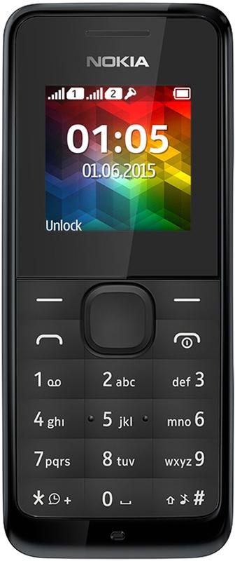 Nokia 105 Dual-Sim 2017 black Mobilais Telefons