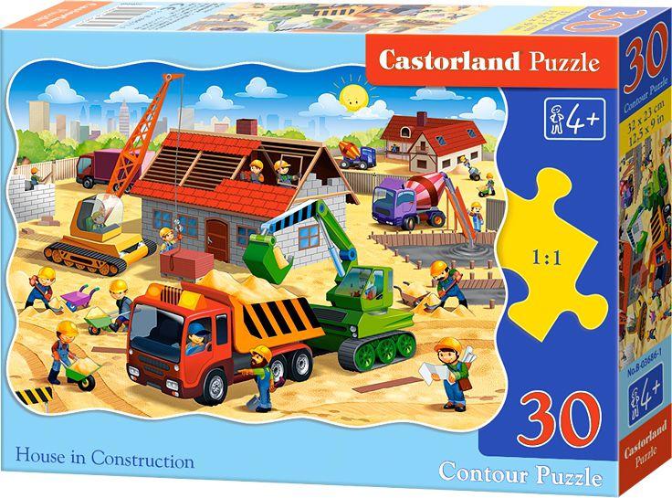 Castorland Puzzle 30 A house under construction puzle, puzzle