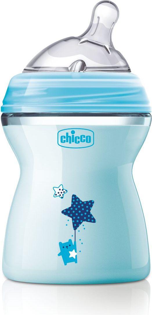 Chicco Butelka NaturalFeeling Blue 2m+ 250ml CC 00080825210000 aksesuāri bērniem