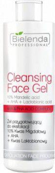 Bielenda Professional Cleansing Face Gel 10% Mandelic Acid + AHA + Lactobionic Acid Zel przygotowujacy do eksfoliacji 200g