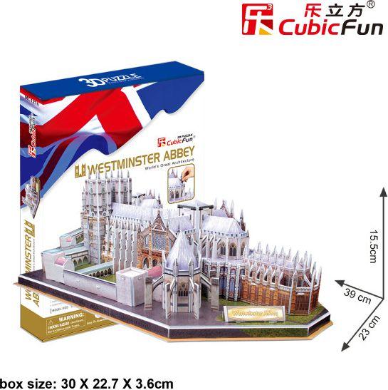 PUZZLE 3D Westminster Abbey 145 el. puzle, puzzle