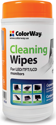 ColorWay Cleaning Wipes for LCD and TFT Screens 100 pcs - CW-1071 tīrīšanas līdzeklis