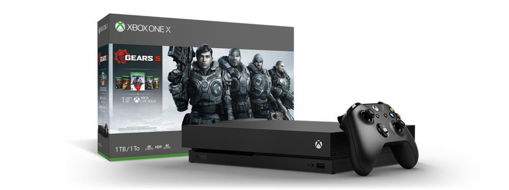 Microsoft Xbox One X 1TB  USK 18 incl Gear 5 + GoW Collection spēļu konsole
