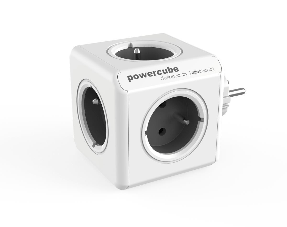 Allocacoc PowerCube Original Type E power extension 5 AC outlet(s) Indoor Grey elektrības pagarinātājs