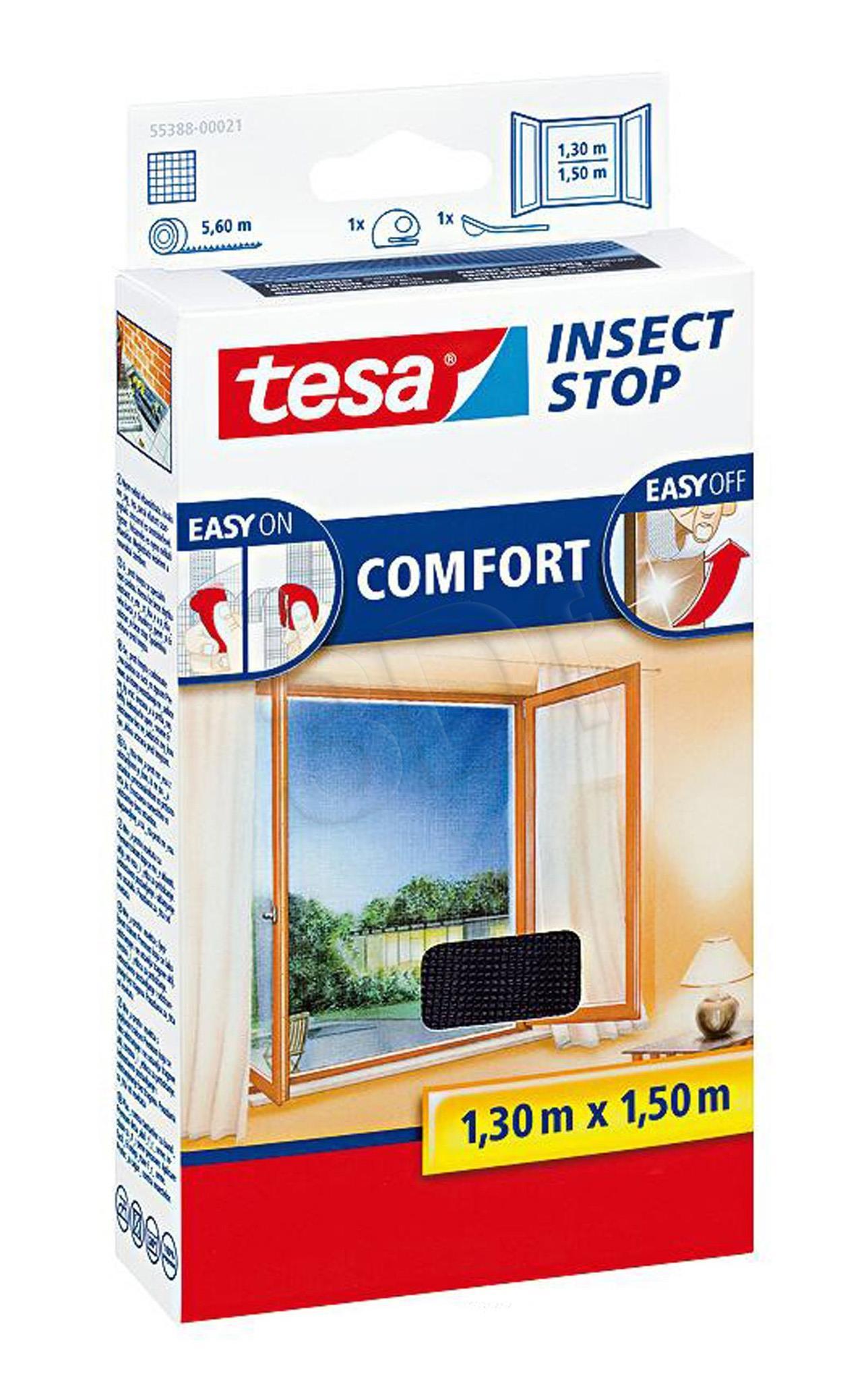 TESA Insect Stop Comfort mosquito net Window White Slazds