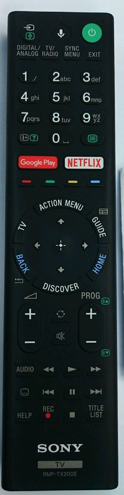 Sony Remote Commander (RMF-TX200E) pults