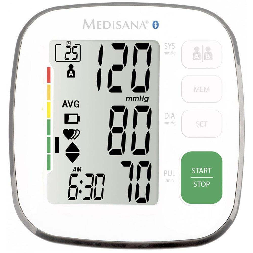 Medisana BU 540 White, Arm blood pressure monitor, Bluetooth asinsspiediena mērītājs