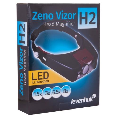 Levenhuk Zeno Vizor H2 PLUS uz galvas stiprinamais palielinatajs