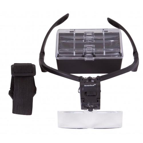 Levenhuk Zeno Vizor G3 PLUS Palielinamais stikls & Brilles ar Apgaismojumu (1-3,5x)