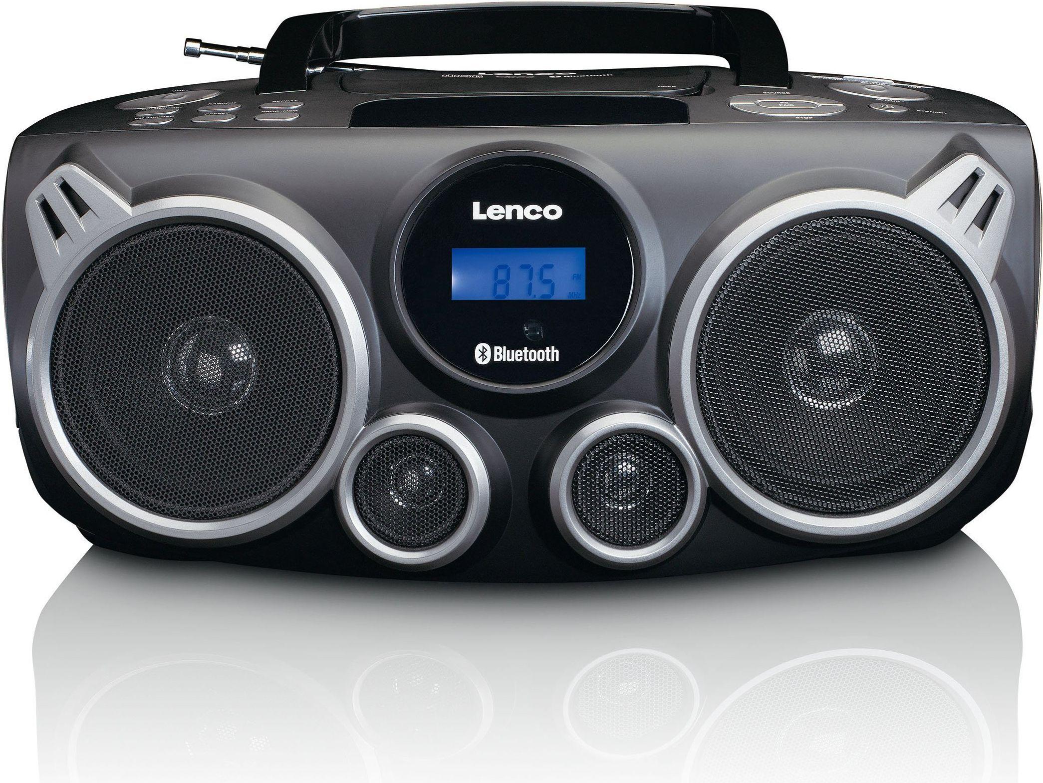 Lenco SCD-100 BK radio, radiopulksteņi