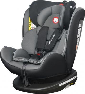 Lionelo Bastiaan Grey/Black auto bērnu sēdeklītis