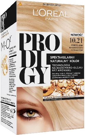 Loreal Prodigy 5 Hair dye 10.21 Porcelain-very, very bright iridescent blond