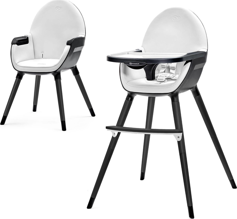 KinderKraft Krzeselko do karmienia Funi Full czarne (KKKFINIFBLK000) KKKFINIFBLK000 bērnu barošanas krēsls