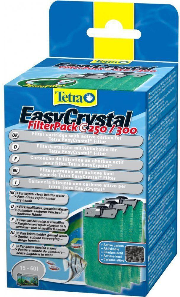Tetra EasyCrystal C 250/300 cartridges with active carbon akvārija filtrs