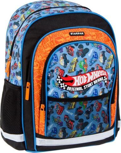 Starpak Hot Wheels school backpack black (371965) Skolas somas un penāļi