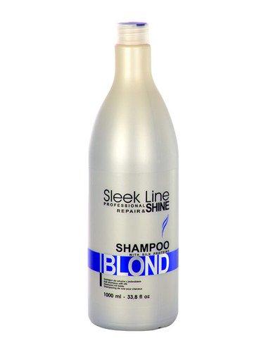 Stapiz Sleek Line Blond Shampoo Szampon z jedwabiem for hair blond 1000ml Matu šampūns