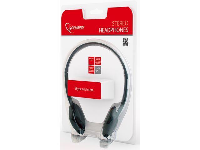 Gembird Headphones MHP-123 Black austiņas