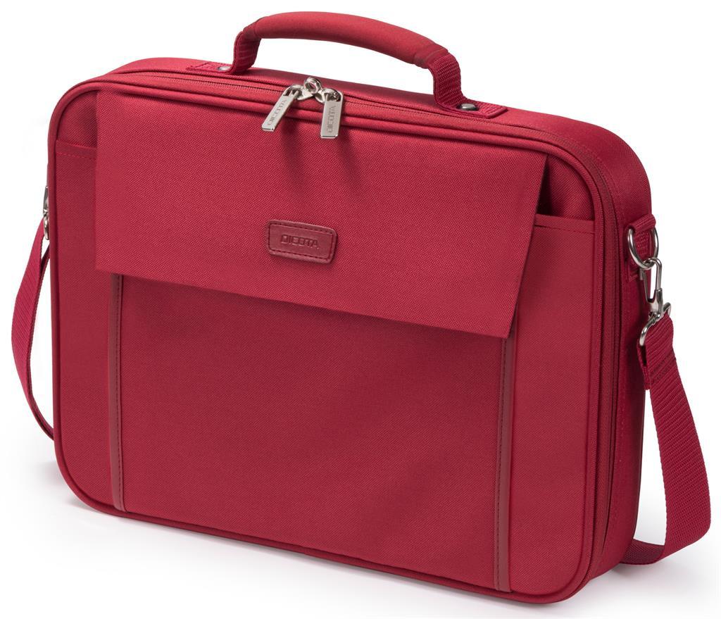 Dicota Multi BASE 15 - 17.3 Red notebook case portatīvo datoru soma, apvalks
