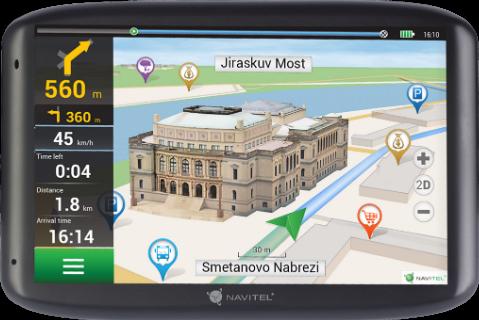 NAVIGATION NAVITEL E500 5'' EU45+RUS,UKR,BLR,KAZ (Lifetime Map) Navigācijas iekārta