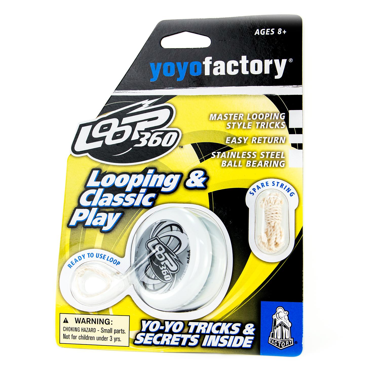 Akcija! YoYoFactory YO-YO LOOP 360 rotaļlieta iesācējiem ar iemaņām, balts YO 123 7218