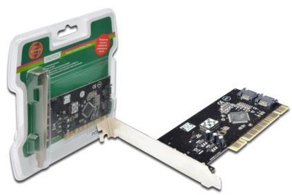 DIGITUS SATA 150 RAID PCI card, 2-port karte