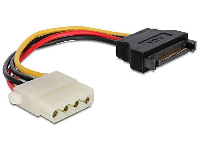 Gembird SATA (male) to Molex (female) power cable, 15cm kabelis datoram